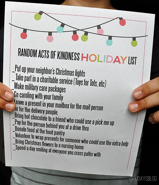 "List via ""Thirty Handmade Days"""