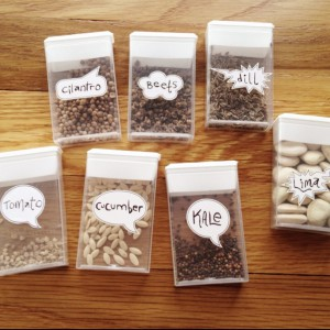 DIY seed containers via Craftionary.