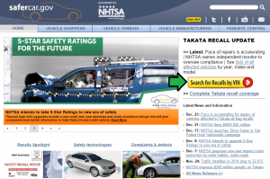 Car Recall Home Page