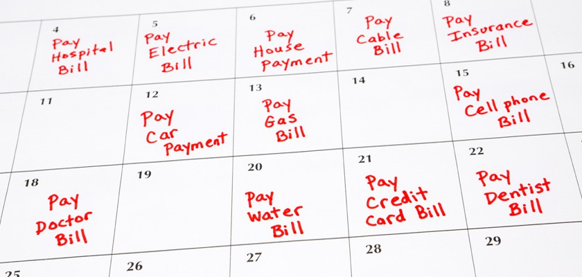 Create A Bill Schedule To Help Save Money