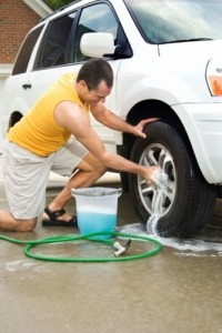 get the salt and grime out of your tires.